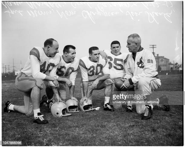 Football University of Oregon 22 December 1957 Ron StoverTom KeeleBob GrottkauBob PetersonHarry MondaleJerry KershnerJC WheelerJack CrabtreeJim...