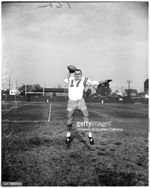 Football - University of Oregon, 22 December 1957. Ron Stover;Tom Keele;Bob Grottkau;Bob Peterson;Harry Mondale;Jerry Kershner;J.C Wheeler;Jack...