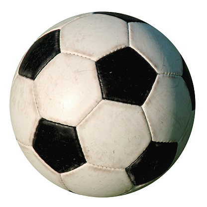 Football - Used Isolated old-style soccer ball on white background 93889291