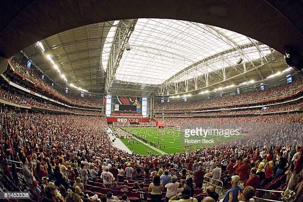 Football View of Cardinals Stadium during Arizona Cardinals warmup before preseason game vs Pittsburgh Steelers Glendale AZ 8/12/2006