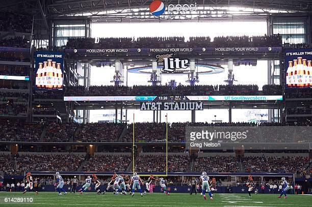 View of Cincinnati Bengals QB Andy Dalton in action passing vs Dallas Cowboys at ATT Stadium Arlington TX CREDIT Greg Nelson