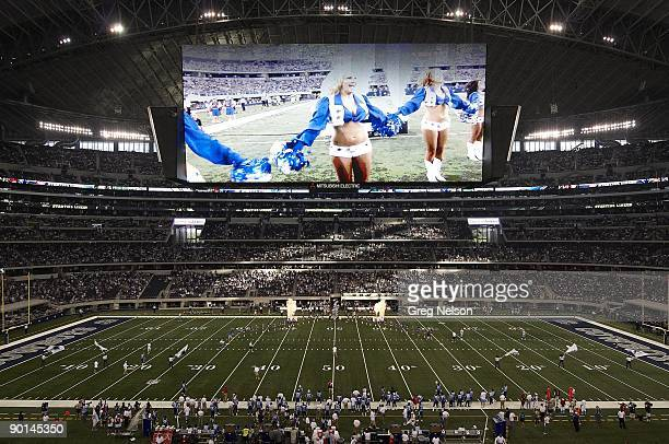 View of Cowboys Stadium HD scoreboard during Dallas Cowboys vs Tennessee Titans preseason game Arlington TX 8/21/2009 CREDIT Greg Nelson