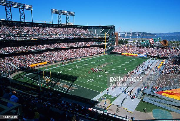 View of Pac Bell Park stadium during San Francisco Demons game San Francisco CA 2/10/2001