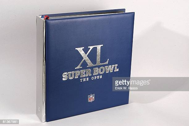 Football View of XL FORTY YEARS OF THE SUPER BOWL book by Opus and published by Kraken at Time Life Building New York NY 12/7/2006