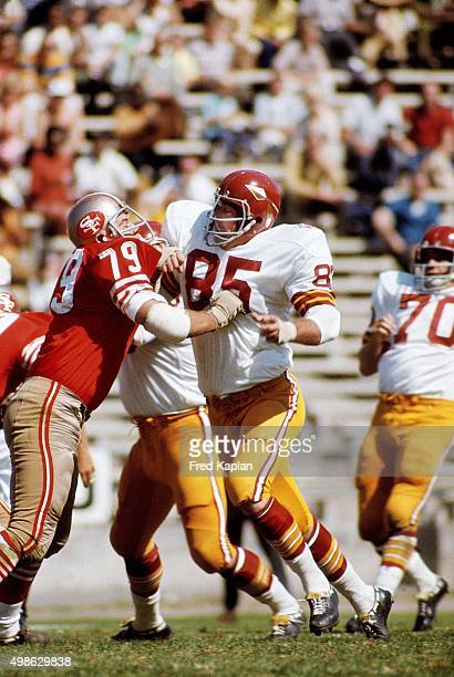 Washington Redskins Clifton McNeil in action vs San Francisco 49ers Dennis Crane at Kezar Stadium San Francisco CA CREDIT Fred Kaplan