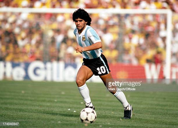Football World Cup 1982 Brazil v Argentina Diego Maradona