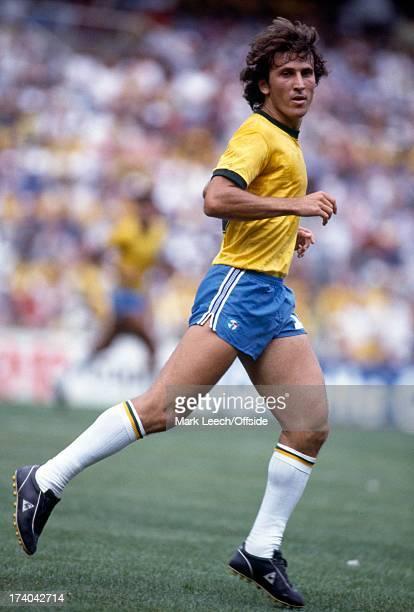 Football World Cup 1982 Brazil v Argentina Zico