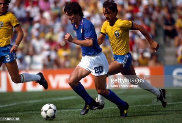 Football World Cup 1982 Brazil v Italy Paolo Rossi breaks