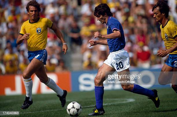 Football World Cup 1982 Brazil v Italy Paolo Rossi