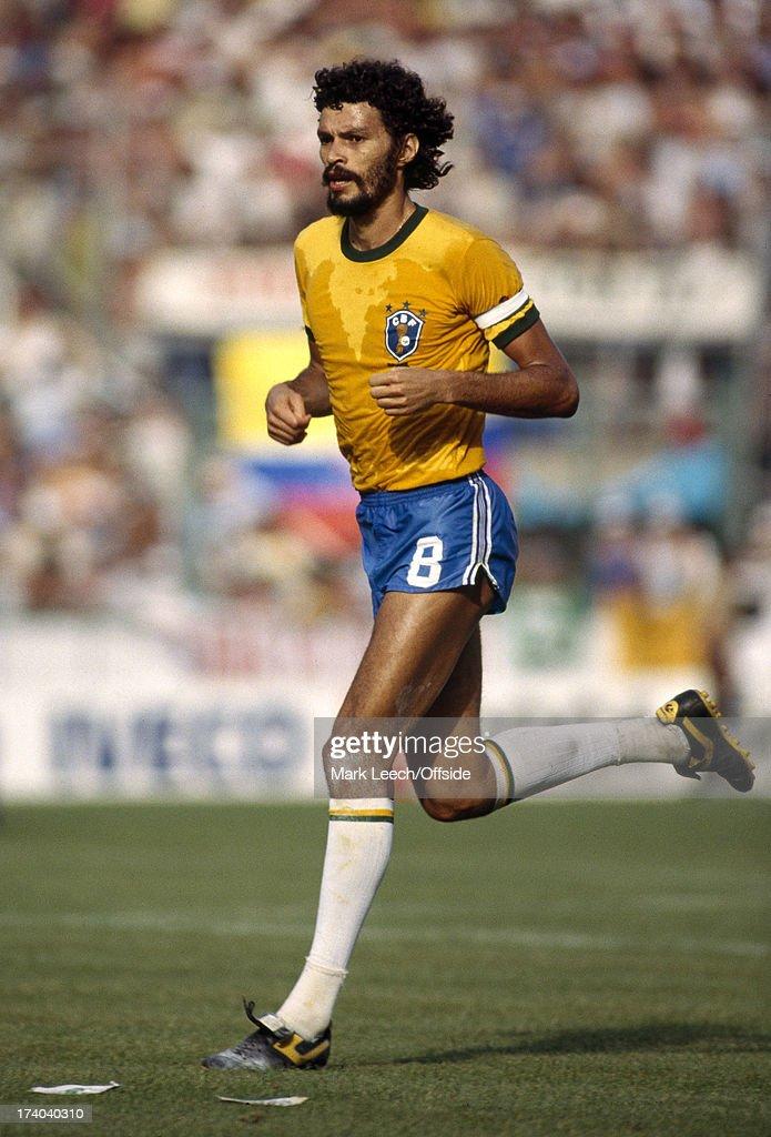 Football World Cup 1982, Brazil v Italy, Socrates.