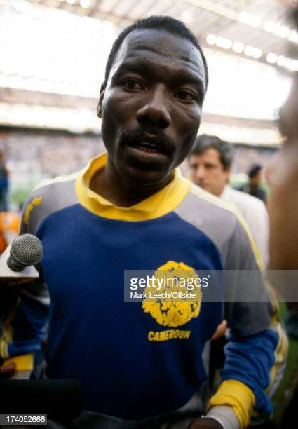 Football World Cup 1990 Argentina v Cameroon Cameroon goalkeeper Thomas N'Kono