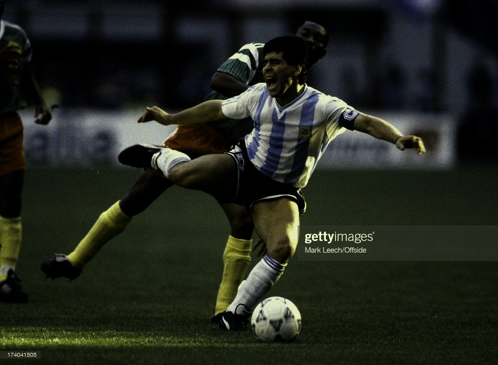 Football World Cup 1990, Argentina v Cameroon, Diego Maradona. News Photo -  Getty Images