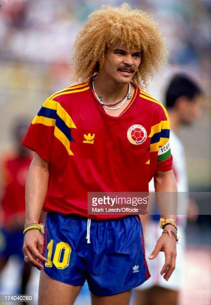 Football World Cup 1990 Colombia v Yugoslavia Carlos Valderrama