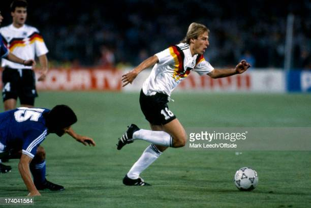 Football World Cup 1990, West Germany v Argentina, Jurgen Klinsmann.