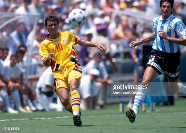 Football World Cup 1994 Argentina v Romania Georghe Hagi