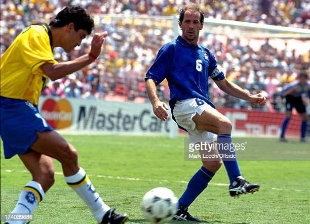 Football World Cup 1994 Brazil v Italy Franco Baresi watches Bebato
