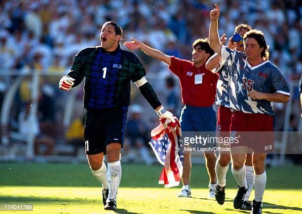 Football World Cup 1994 Colombia v USA Tony Meola leads the US celebrations
