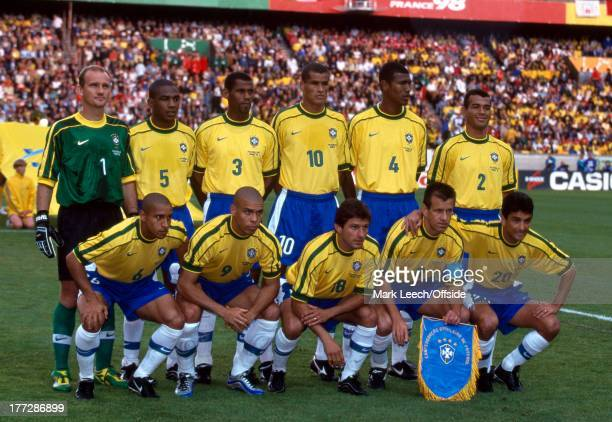 Football World Cup 1998 Brazil v Chile Brazil team group