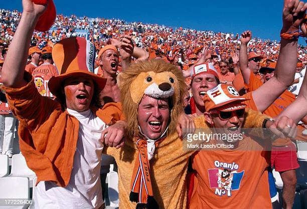 Football World Cup 1998, Holland v Argentina, Dutch fans in the Stade Velodrome, Marseille.