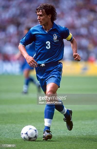 Football World Cup 1998 Italy v France Paolo Maldini