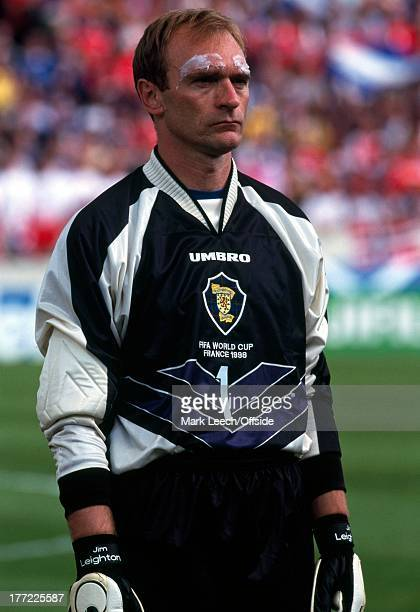 Football World Cup 1998 Scotland v Norway Jim Leighton with vaseline covered eyebrows