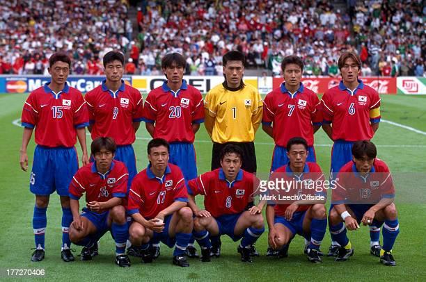 Football World Cup 1998 South Korea v Mexico South Korea team group