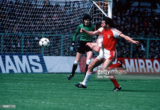 Football World Cup Qualifier Group 3 30th May 1981 Wales 0 v USSR 0 Mickey Thomas of Wales in action