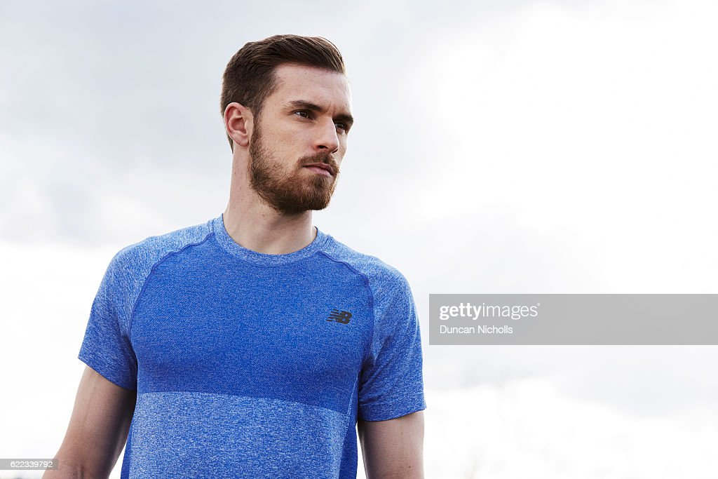 Aaron Ramsey, New Balance UK, April 2016 : News Photo