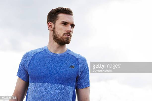 Footballer Aaron Ramsey is photographed for New Balance on April 5 2016 in London England