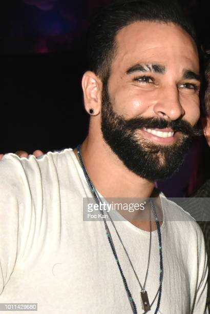 Footballer Adil Rami attends the Fight Night Party at the VIP ROOM as Part of SaintTropez Party On French Riviera on August 4 2018 in SaintTropez...