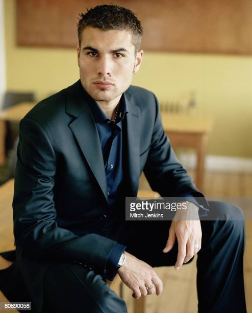 Footballer Adrian Mutu poses for a portrait shoot on April 7 2004 in London