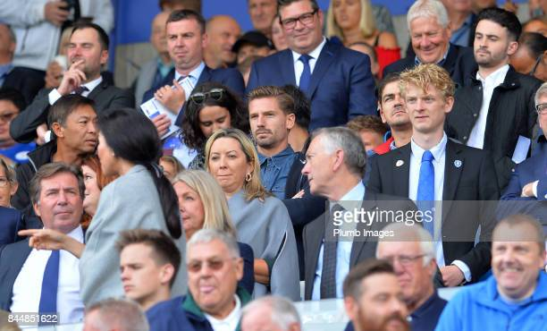 Footballer Adrien Silva in the stands ahead of the Premier League match between Leicester City and Chelsea at King Power Stadium on September 09 2017...