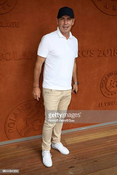 Footballer Alain Boghossian attend the 2018 French Open Day Five at Roland Garros on May 31 2018 in Paris France