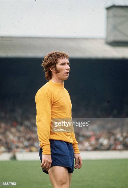 Footballer Alan Ball wearing an Everton strip during a 1971 match against West Ham United