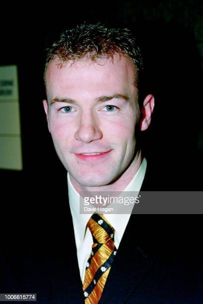 Footballer Alan Shearer attends a Manchester United charity film screening and dinner Manchester circa 1980s