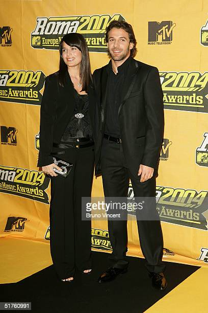 Footballer Alessandro Del Piero of Juventus and Italy and partner Sonia Amoruso attends the MTV Europe Music Awards 2004 on November 18 2004 at Tor...