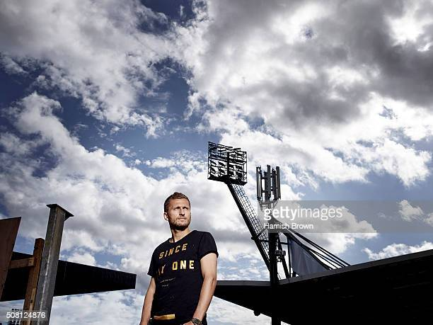 Footballer Almen Abdi is photographed for Sports magazine on August 27 2015 in London England