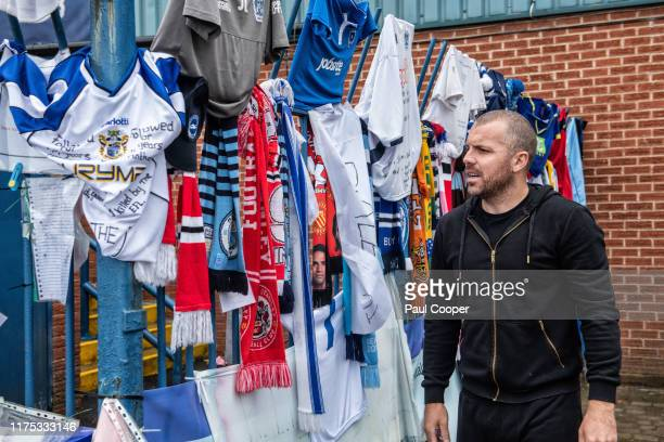Footballer and captain of Bury football club which closed is photographed for the Telegraph on September 27 2019 in Bury England