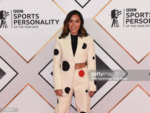Footballer and presenter Chelsee Grimes on the red carpet at the BBC Sports Personality of the Year Awards, at the P&J Live arena on December 15 in...