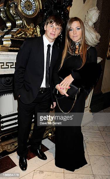Footballer Andrey Arshavin and wife Yulia attend the official UK launch of the Gift Of Life Foundation at The Wallace Collection on January 13 2012...