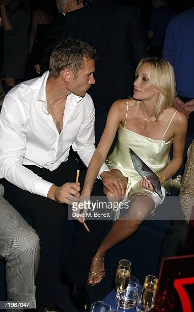 Footballer Andriy Shevchenko with wife Kristen Pazik attend the fashion show and party to celebrate the launch of Emporio Armani RED collection at...