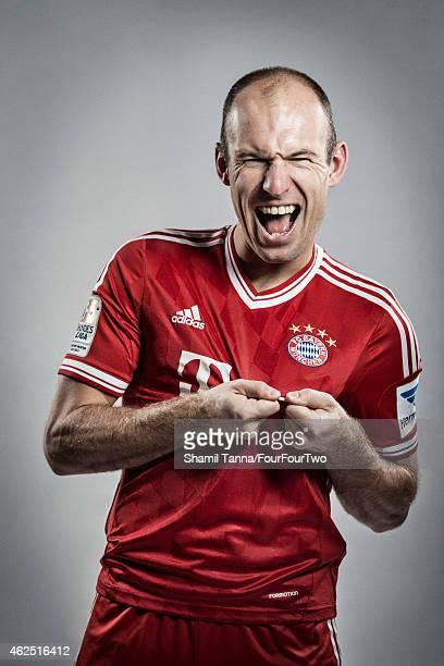 Footballer Arjen Robben is photographed for FourFourTwo magazine on November 6 2013 in London England