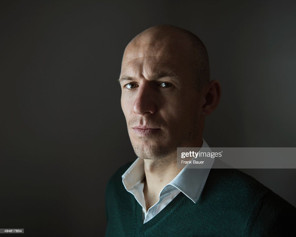 Footballer Arjen Robben is photographed for the Guardian on February 4, 2015 in Munich, Germany.