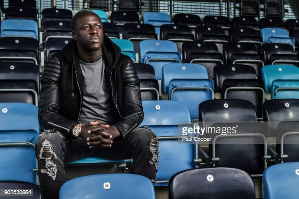 Footballer Benjamin Mendy is photographed for the Telegraph on September 21 2017 in Manchester England