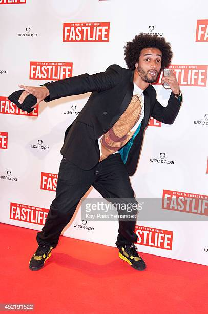 Footballer Benoit AssouEkotto attends the 'Fastlife' Paris Premiere At at Gaumont Capucines on July 15 2014 in Paris France
