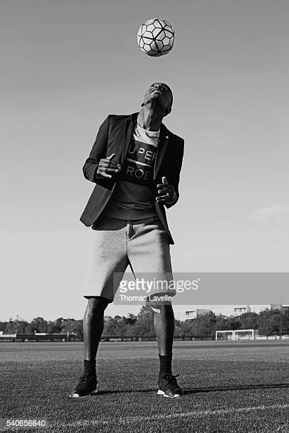 Footballer Blaise Matuidi is photographed for Gala on May 3 2016 in Paris France