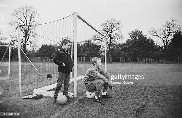 Footballer Bobby Moore of West Ham United at a training session UK 16th November 1966