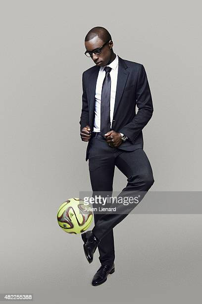 Footballer Cheikh Mbengue is photographed for Self Assignment on January 2, 2015 in Paris, France.