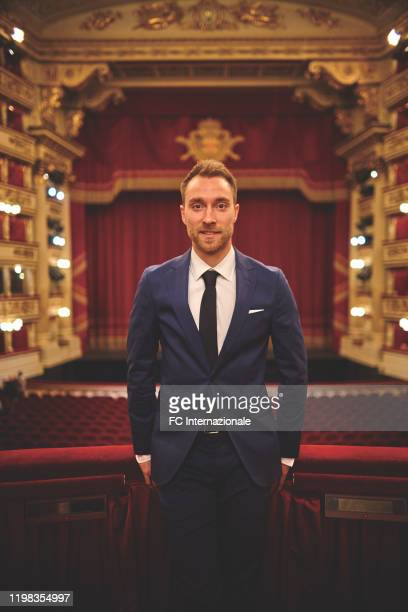 Footballer Christian Eriksen is photographed on January 27 2020 at the Alla Scala theatre in Milan Italy