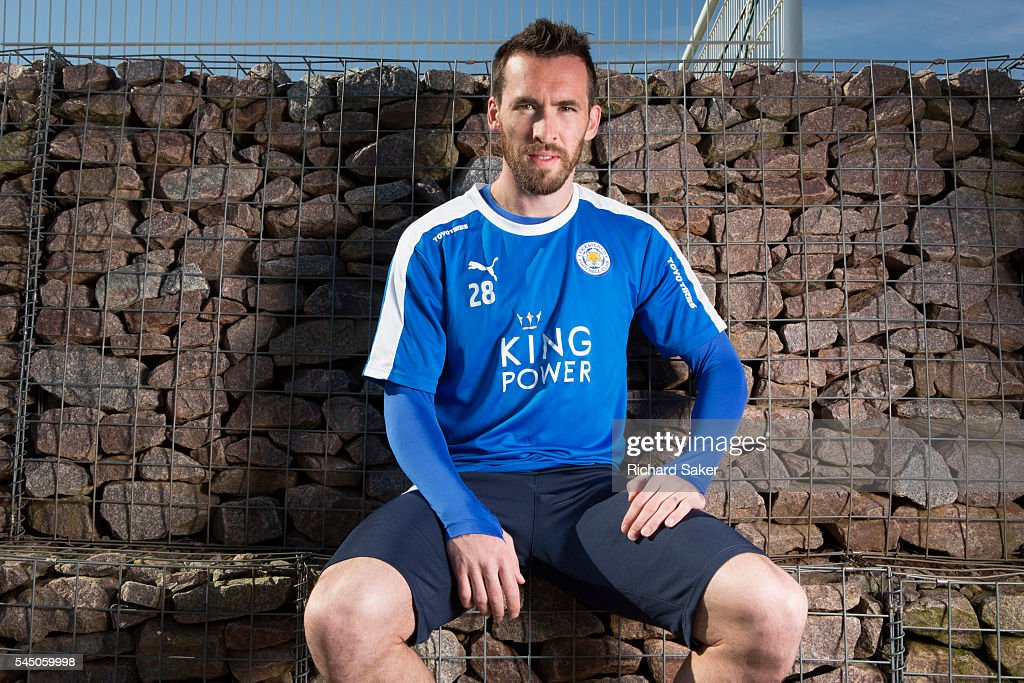 Footballer Christian Fuchs is photographed for the Observer on April 13, 2016 in Leicester, England.